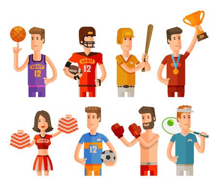 deportista: juegos de deportes iconos conjunto aislado sobre fondo blanco. ilustración vectorial