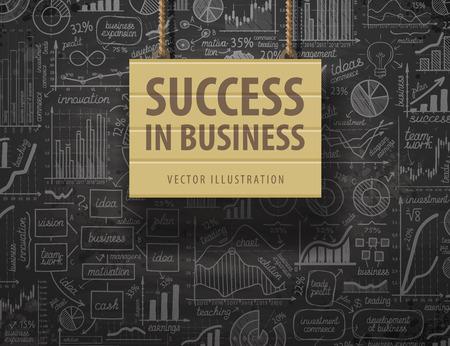 infographie d'affaires sur un fond noir. illustration vectorielle