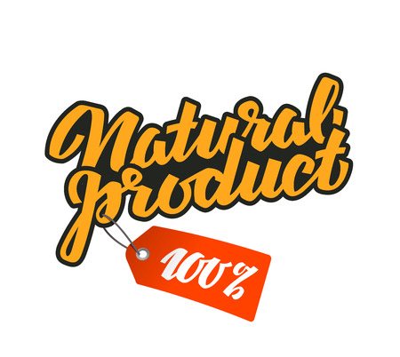 upmarket: natural product isolated on white background. vector illustration