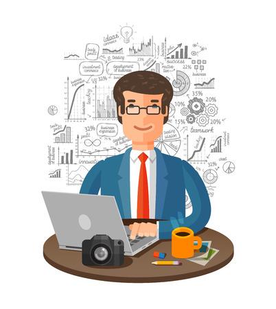 brokerage: business infographics isolated on white background. vector illustration Illustration