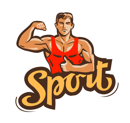 potency: athlete isolated on white background.