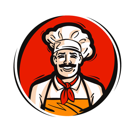restaurant, cafe vector logo. fresh food, cooking, menu or chef icon