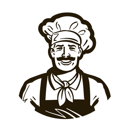 confectionery: restaurant, cafe vector logo. chef or cuisine, cooking, cookery icon Illustration