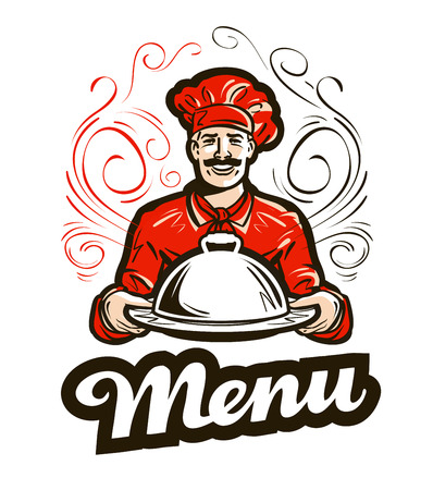 Restaurant-Menü Vektor. Café, Restaurant oder Chef-Symbol Vektorgrafik