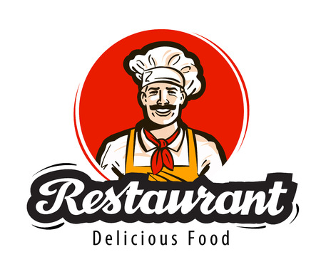 restaurant vector   diner, cafe or cook, chef icon
