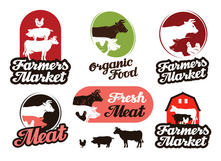 livestock: farm vector. meat, food or livestock breeding icon Illustration