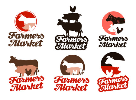 animal husbandry: farm vector. livestock farming or animal husbandry icon
