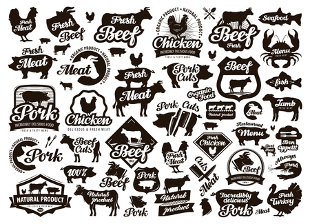 food dish: restaurant, cafe vector. food, meat or menu, cooking icon