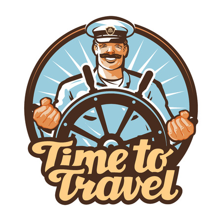 mariner: travel vector. journey or sailor, ship captain icon