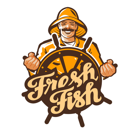 fisher: fisherman vector. fisher, angler or fishing icon