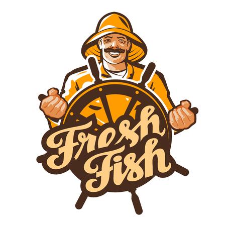 fishery: fisherman vector. fisher, angler or fishing icon