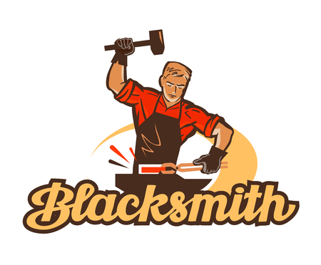 blacksmith: blacksmith vector. anvil or smithy icon