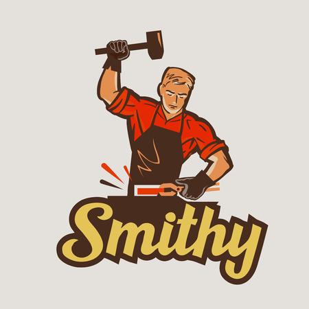 blacksmith, smithy. vector illustration