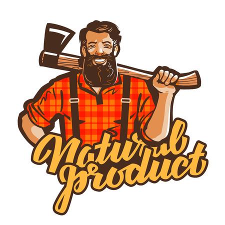 leñador, vector de leñador. carpintero o el icono de carpintero