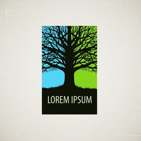 nature, ecology or environment. tree icon, symbol
