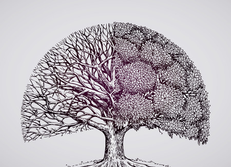 abstrakt, stilisiert Baum. Ökologie der Natur Umwelt Vektor-Illustration