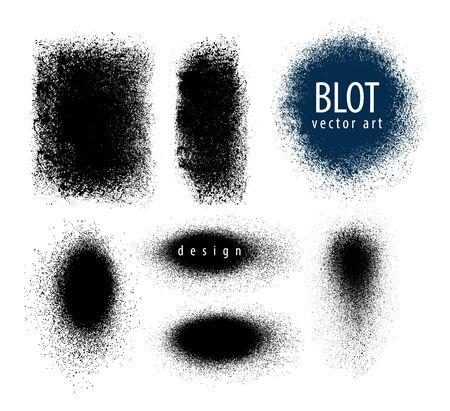 blots: Set of blots. paint sprayer. Vector illustration
