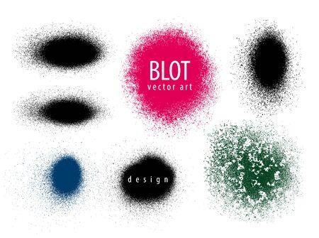 blots: Set of blots, paint, grunge Vector illustration