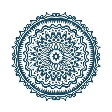 lace pattern: Ornamental round lace pattern. Vector illustration ethnic style Illustration