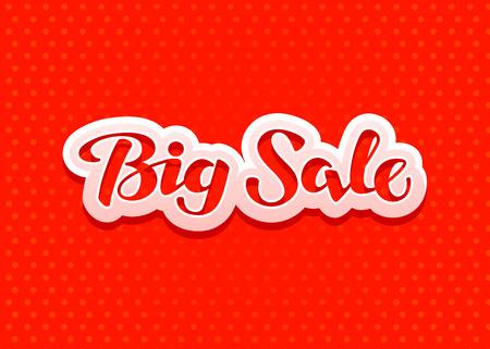 vector banner: Big Sale lettering. Design Christmas sales, banner. Vector illustration