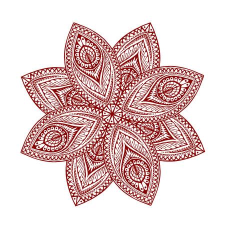 Mandala. Beautiful vintage pattern. Vector illustration of ethnic style