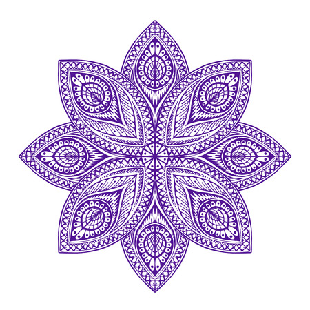 basic figure: Mandala. Beautiful vintage round patterns. Vector illustration ethnic style