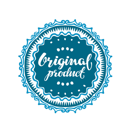 authenticity: Original product. Vector illustration isolated on white background