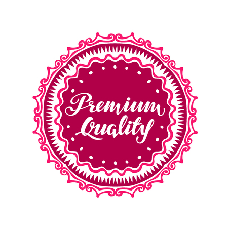 sale sticker: Premium Quality. Vector illustration isolated on white background