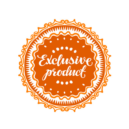 rarity: Exclusive product. Vector illustration isolated on white
