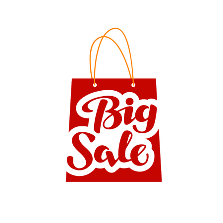 Big Sale. Shopping symbol or icon isolated on white background Stock Vector - 63811502