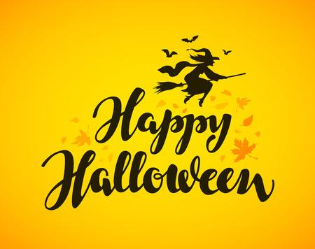 Happy Halloween . lettering. illustration 일러스트