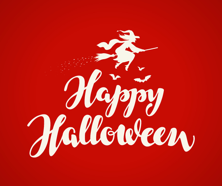 Happy halloween holiday message writing on red background royalty happy halloween holiday message writing on red background stock vector 64203016 m4hsunfo