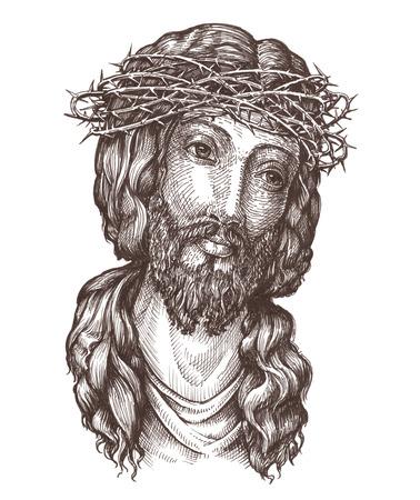 nazareth: portrait of Jesus Christ isolated on white background