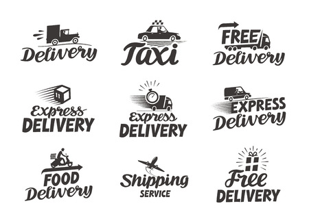 delivery icon: Express delivery service. Vector icon or symbol