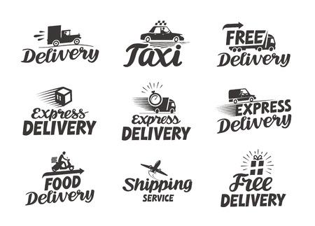 Usługa ekspresowej dostawy. Wektorowa ikona lub symbol Ilustracje wektorowe