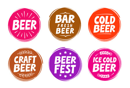 boozer: Fresh craft beer, brewery symbol. Vector elements for design menu restaurant, cafe or pub