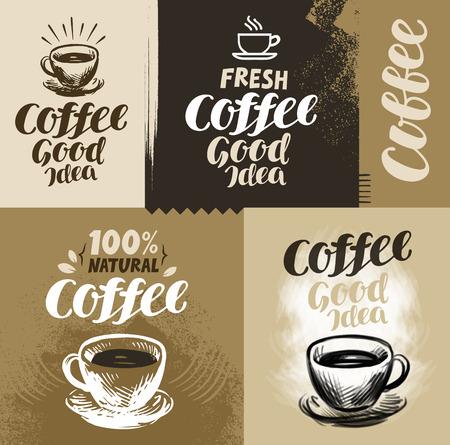 grunge backgrounds: Coffee. Vector illustration for design menu restaurant or cafe
