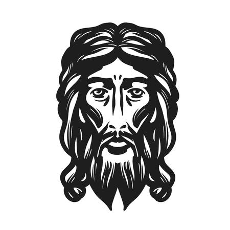 cross: Face of Jesus illustration