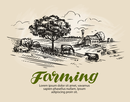 Farm sketch.