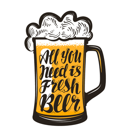 파인트, 에일, 양조장 상징의 낯 짝. 맥주, 레터링 만 있으면 충분합니다. 레스토랑이나 술집, 바에 대한 템플릿 메뉴 디자인. 벡터 일러스트 레이 션 스톡 콘텐츠 - 72455826