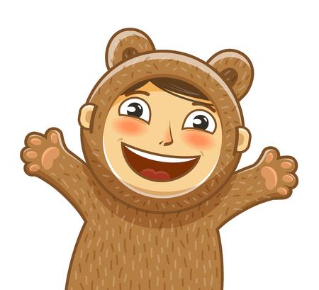 Happy child. Delight smiling kid. Baby, cartoon vector illustration