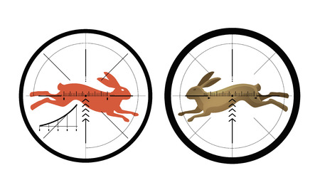 Hunting icon. Reticle, crosshair. Target symbol. Vector illustration