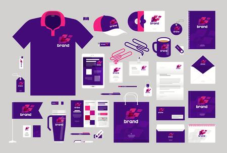ビジネス デザイン。コーポレート ・ アイデンティティのテンプレートです。ロゴ、ラベル、ブランドのプロモーション。ベクトル図
