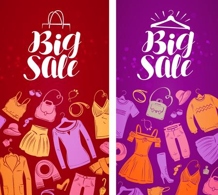 sundress: Big sale label. Illustration