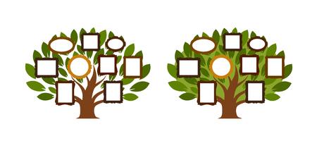 Family tree, genealogy icon or logo. Cartoon vector illustration Illustration
