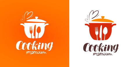 Cooking, cuisine, cookery logo. Restaurant, menu, cafe, diner label or icon. Vector illustration Illustration