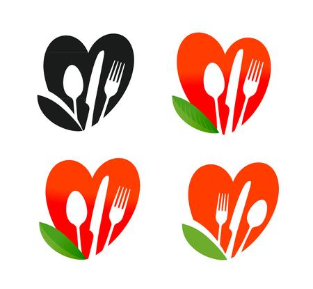 Logotipo del alimento natural, orgánico. Nutrición saludable, dieta, icono vegetariano. Ilustración del vector Foto de archivo - 81791625