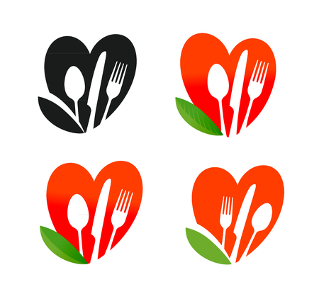 Natural, organic food logo. Healthy nutrition, diet, vegan icon. Vector illustration