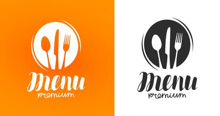 調理、料理のロゴ。アイコンとラベル デザイン メニューのレストランやカフェ。ベクトル図  イラスト・ベクター素材