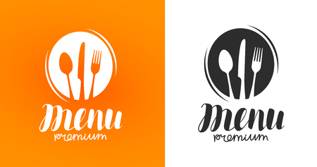 Cooking, cuisine logo. Icon and label for design menu restaurant or cafe. Vector illustration